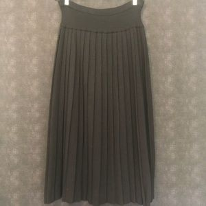 VINTAGE▪️JH Collectible Black Wool Pleated Skirt